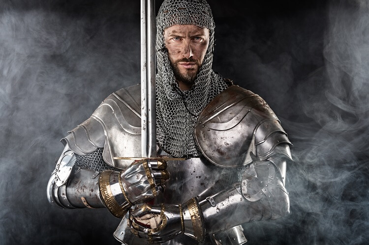 Male Paladin Strong Sword