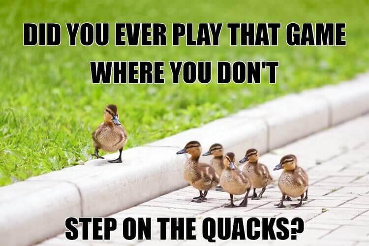 Don't Step on the Quacks Meme