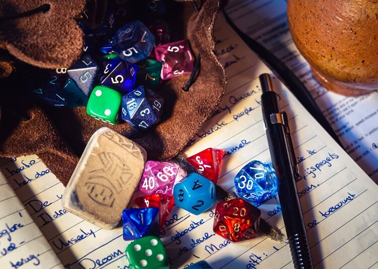 Dungeons and Dragons Dice Pencil Notebook