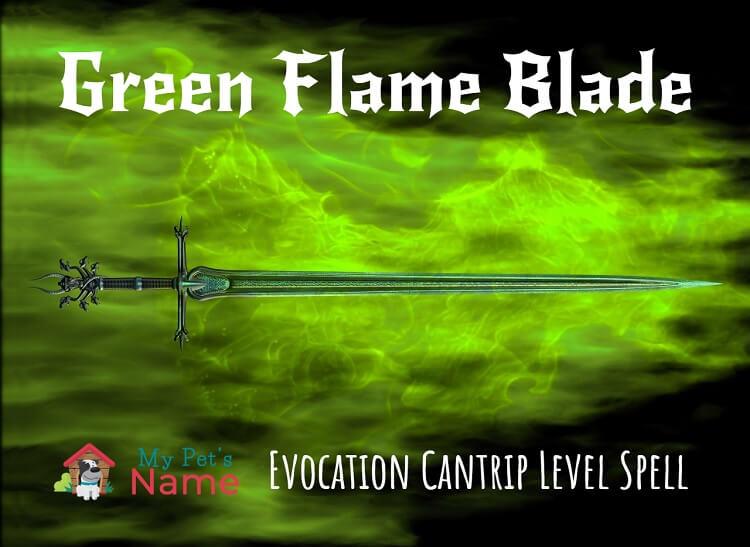 Green Flame Blade Sword My Pets Name