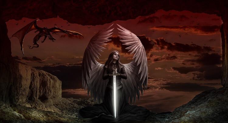 Female Angel Sword