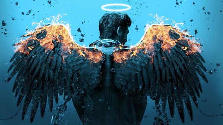 Male Burning Wings