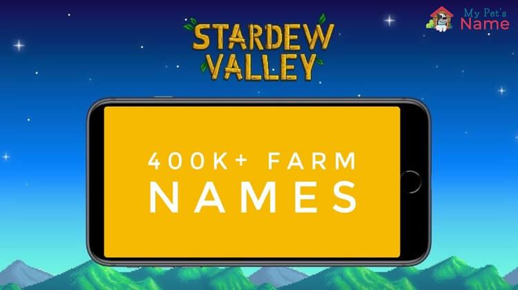 Stardew Valley Farm Names mypetsname