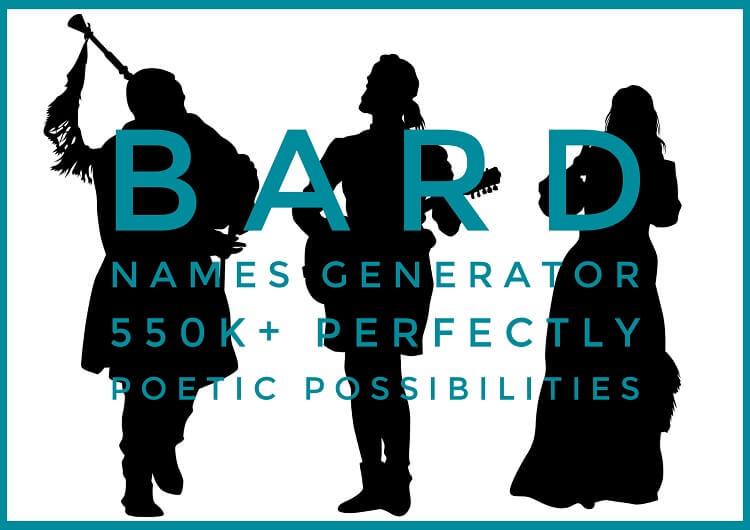 Three Bard Names Silhouette Blue