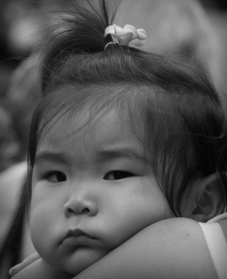 Grumpy Japanese Baby Girl