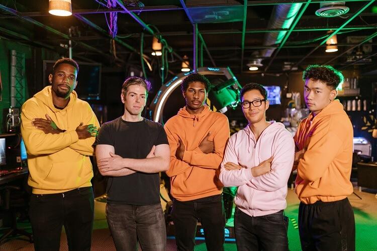 Team of Gamer Guys