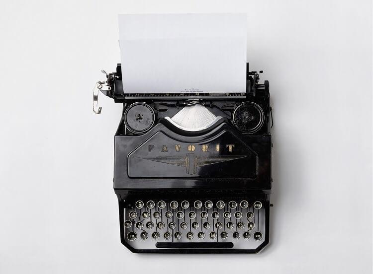 Typewriter Writing Fiction Novel