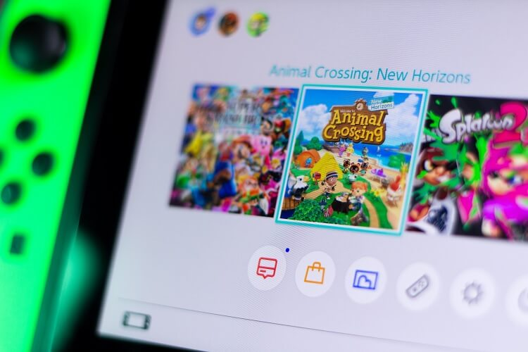 Animal Crossing Icon on Switch