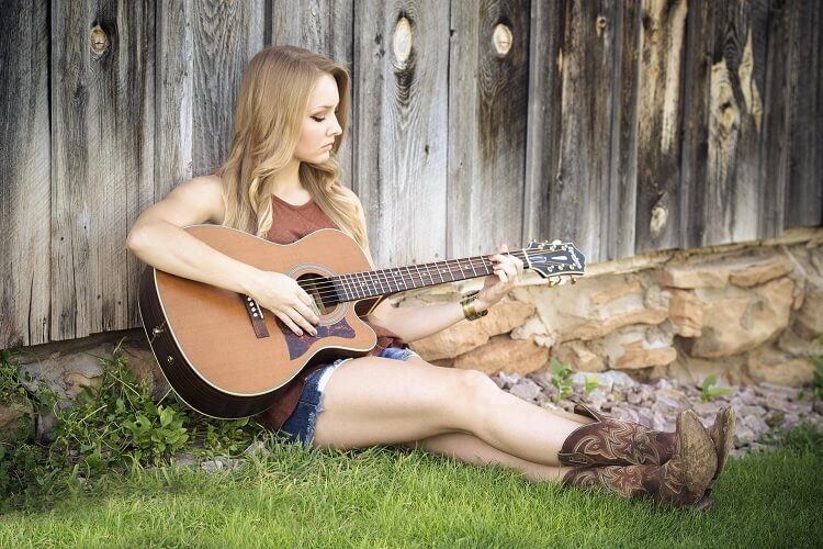 Country Girl with Guitar